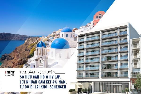 Sở hữu căn hộ ở Hy Lạp, lợi nhuận cam kết 4% năm.  tự do đi lại khối Schengen