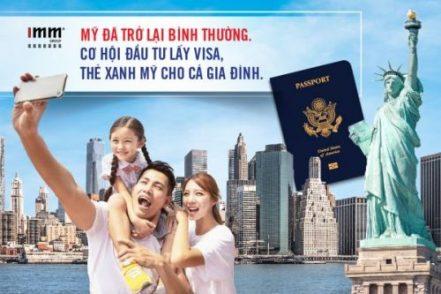 Mỹ đã trở lại bình thường Cơ hội đầu tư lấy visa, thẻ xanh Mỹ cho cả gia đình