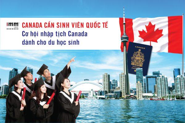 Canada cần sinh viên quốc tế Cơ hội nhập tịch Canada dành cho du học sinh