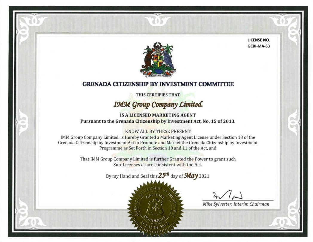 IMM Group – The one and only Vietnamese Company to be licensed by the Goverment of Grenada