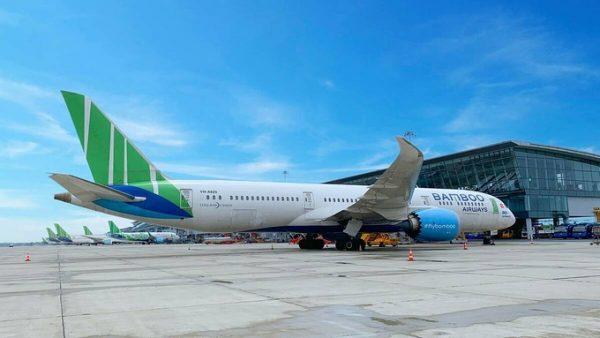 Một chiếc Boeing 787-9, dòng máy bay dự kiến được Bamboo Airways khai thác cho đường bay Mỹ. Ảnh BAV