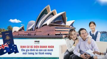 Định cư Úc diện doanh nhân  <br>Cho gia đình và con cái mình một tương lai thịnh vượng