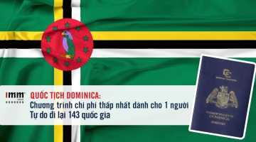 Quốc tịch Dominica: Chương trình chi phí thấp nhất dành cho 1 người <br>Tự do đi lại 143 quốc gia