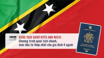 Quốc tịch Saint Kitts and Nevis: Chương trình quốc tịch nhanh <br>Mức đầu tư thấp nhất cho gia đình 4 người